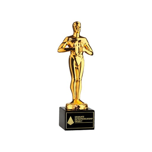 Pokal Siegerfigur - Hollywood Award - vergoldet